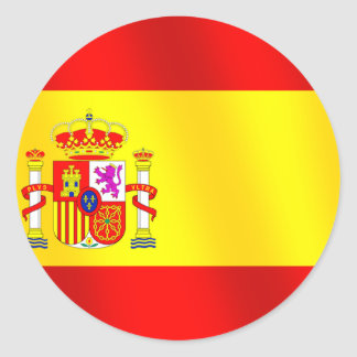 Flag of Spain for Spaniards worldwide Round Stickers
