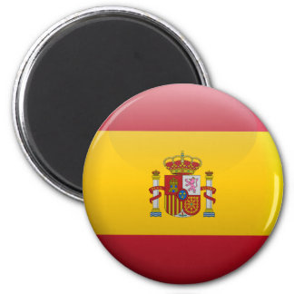 Flag of Spain 2 Inch Round Magnet