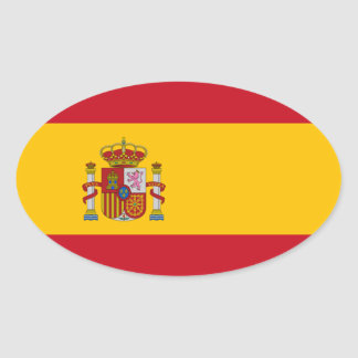 Flag of Spain Oval Sticker