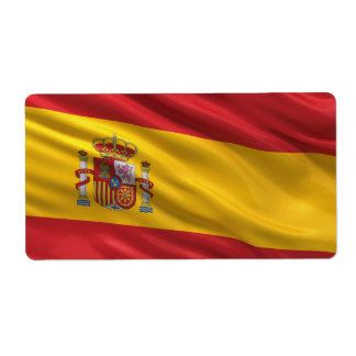 Flag of Spain Shipping Label