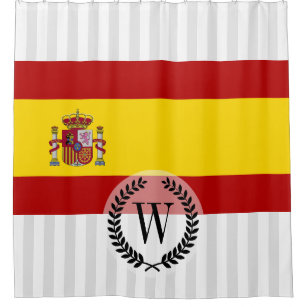 Flag Of Spain Shower Curtain