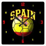 Flag of Spain Soccer Ball Clock