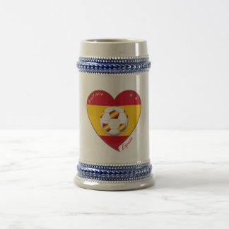 Flag of SPAIN SOCCER champions of world 2014 Beer Stein