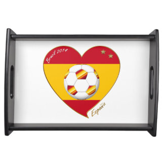 Flag of SPAIN SOCCER of national team 2014 Serving Tray