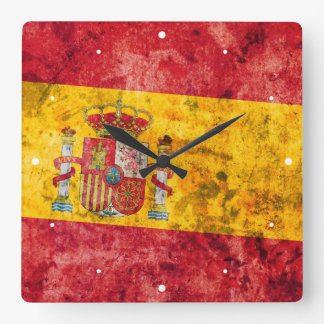 Flag of Spain Square Wall Clock
