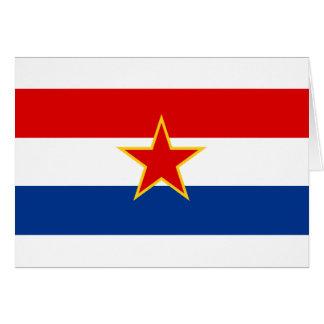 Flag of SR Croatia Card