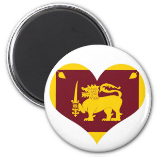 Flag of Sri Lanka Island Magnet