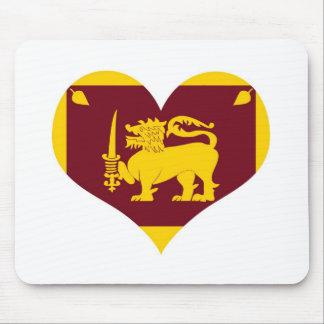 Flag of Sri Lanka Island Mouse Pad