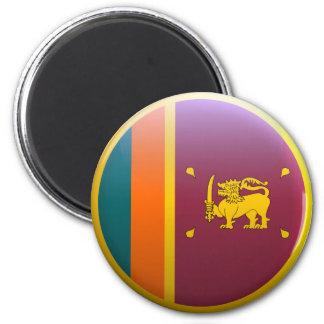 Flag of Sri Lanka 2 Inch Round Magnet