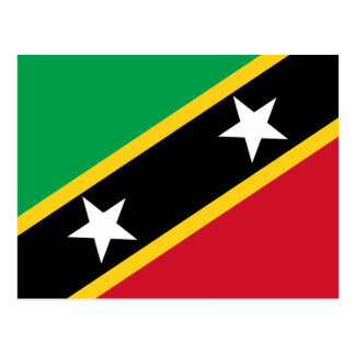 Flag of St. Kitts and Nevi Postcard