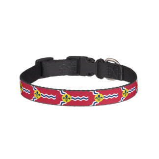 Flag of St. Louis, Missouri Pet Collar