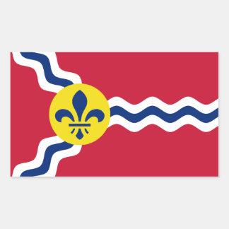 Flag of St. Louis, Missouri Rectangular Sticker
