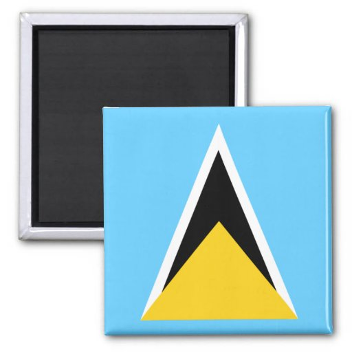 Flag of St Lucia 2 Inch Square Magnet