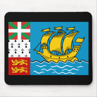 Flag of St Pierre and Miquelon Mouse Pad