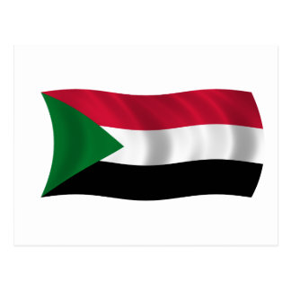 Flag of Sudan Postcard