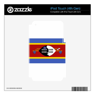 Flag_of_Swaziland Skin For iPod Touch 4G