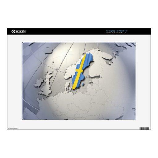 """Flag of Sweden 15"""" Laptop Skins"""