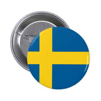 Flag of Sweden 2 Inch Round Button