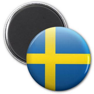 Flag of Sweden 2 Inch Round Magnet