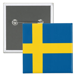 Flag of Sweden 2 Inch Square Button