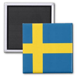 Flag of Sweden 2 Inch Square Magnet