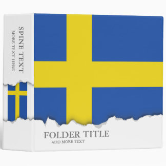 Flag of Sweden 3 Ring Binder