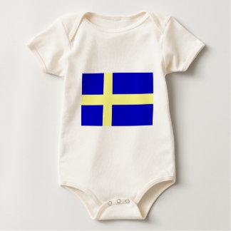 Flag of Sweden Baby Bodysuit