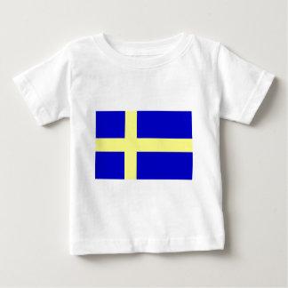 Flag of Sweden Baby T-Shirt
