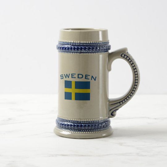 Flag of Sweden Beer Stein