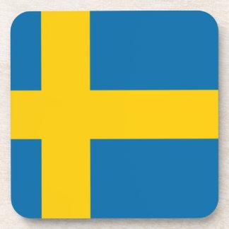 Flag of Sweden Beverage Coaster