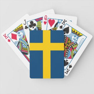 Flag of Sweden Bicycle Playing Cards