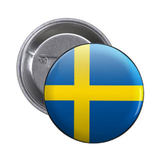 Flag of Sweden Pinback Buttons