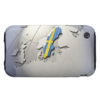 Flag of Sweden Tough iPhone 3 Covers
