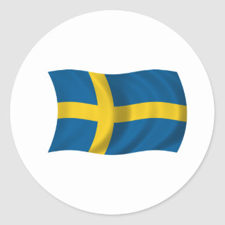 Flag of Sweden Classic Round Sticker