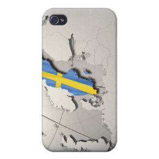 Flag of Sweden Covers For iPhone 4