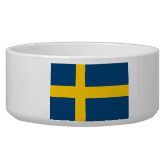 Flag of Sweden Dog Food Bowl