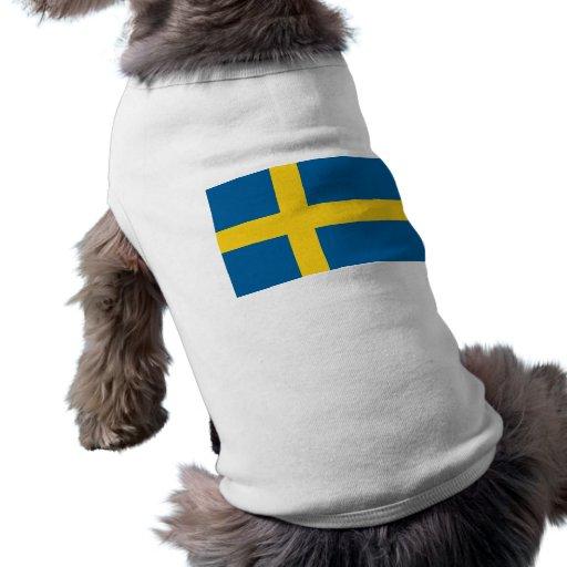 Flag of Sweden Dog T Shirt