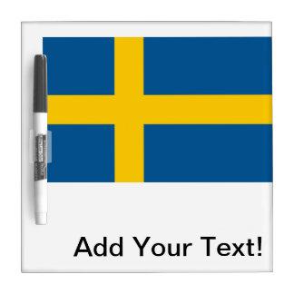Flag of Sweden Dry Erase Board