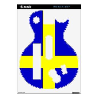 Flag of Sweden Guitar Hero Les Paul (Wii) Decals For Guitar Hero