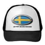 Flag of Sweden in Steel Frame Mesh Hats