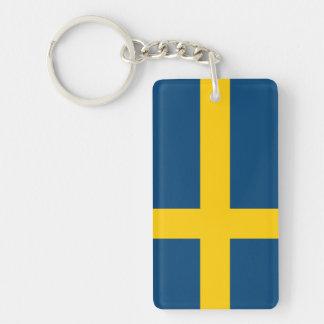 Flag of Sweden Rectangular Acrylic Key Chains