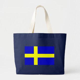 Flag of Sweden Large Tote Bag