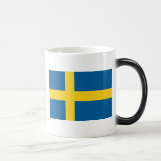 Flag of Sweden 11 Oz Magic Heat Color-Changing Coffee Mug