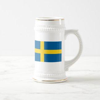 Flag of Sweden 18 Oz Beer Stein
