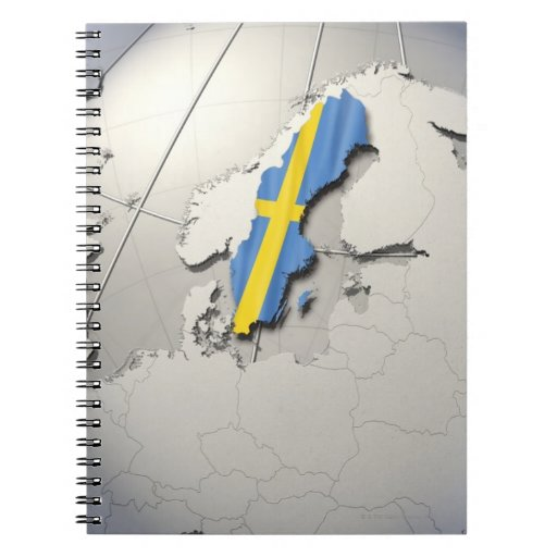 Flag of Sweden Note Books