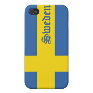 Flag of Sweden-Personalize Text Cover For iPhone 4