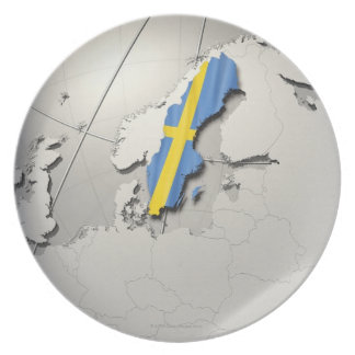 Flag of Sweden Party Plates