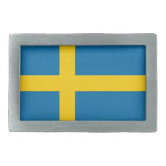 Flag of Sweden Rectangular Belt Buckle