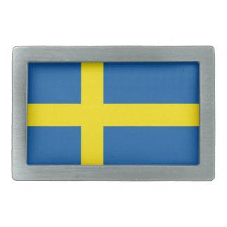 Flag of Sweden Scandinavian Rectangular Belt Buckle