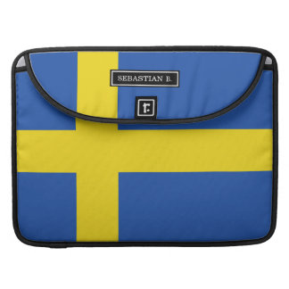 Flag of Sweden Sleeve For MacBook Pro